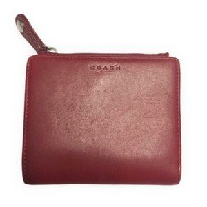 Rare COACH red leather vintage wallet